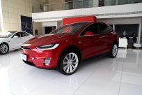 2016款 特斯拉 Model X 90D 中国红 实拍 外观