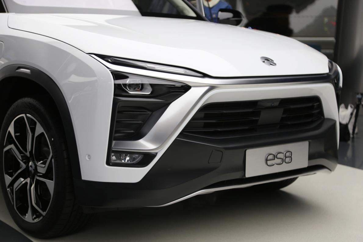 2018款 蔚来 ES8 创始版 云白 实拍 细节