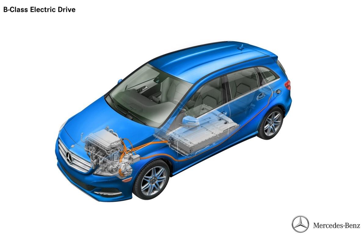 2015款 奔驰 B级 Electric Drive 官图 内动力底盘