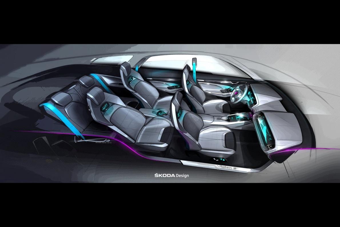 2016款 斯柯达 VisionS Concept 官图 座椅空间