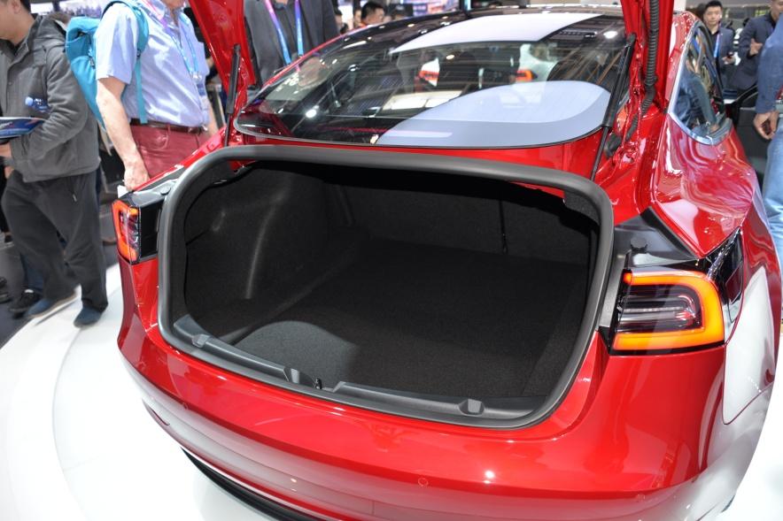 2018款 特斯拉 Model 3 车展 座椅空间