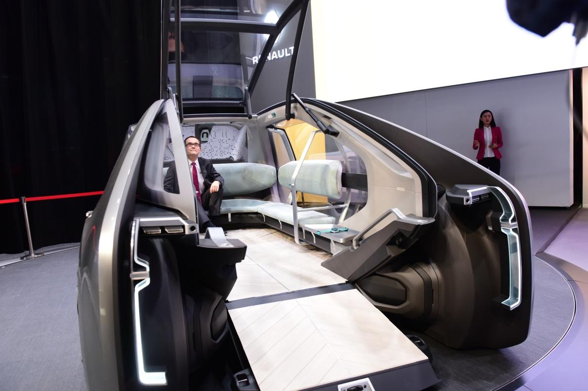 2018款 雷诺 EZ-GO 车展 座椅空间