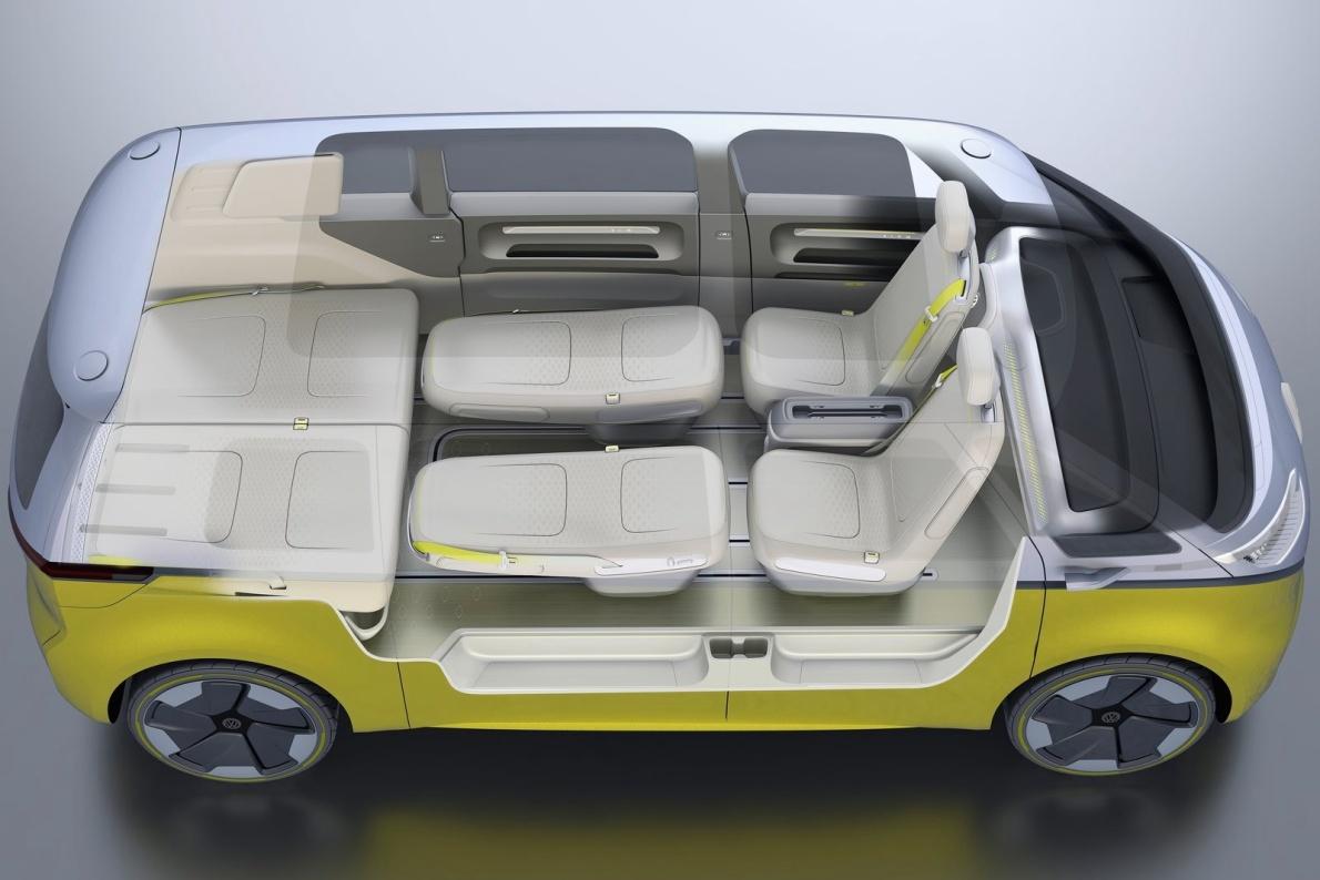 2017款 ID Buzz Concept 官图 座椅空间