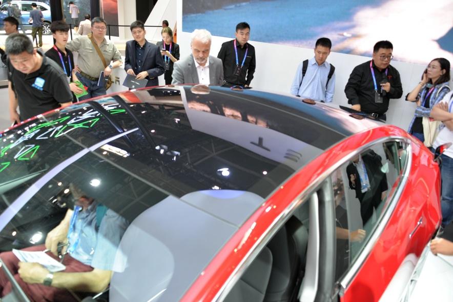 2018款 特斯拉 Model 3 车展 细节