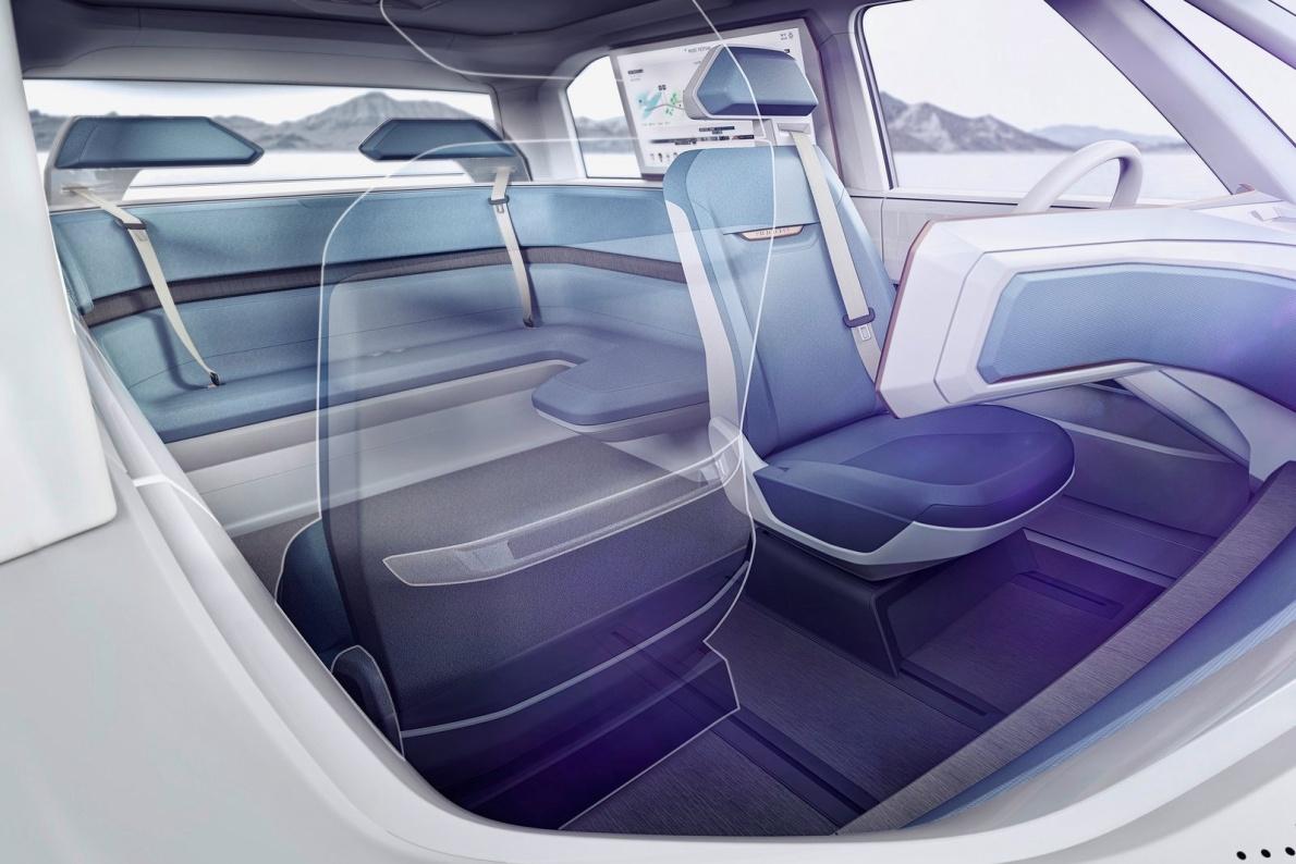 2016款 大众BUDD-e Concept 官图 座椅空间