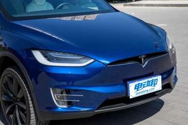 2016款 特斯拉 Model X P100D  深海蓝 实拍 细节
