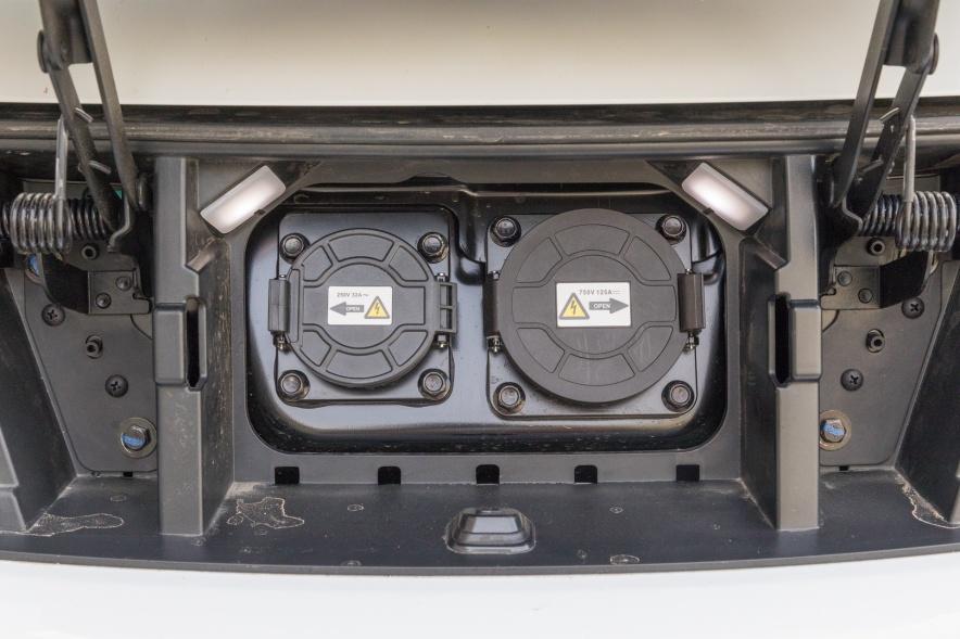 2018款 比亚迪 e5 450 智联畅享型 水晶白 实拍 充电