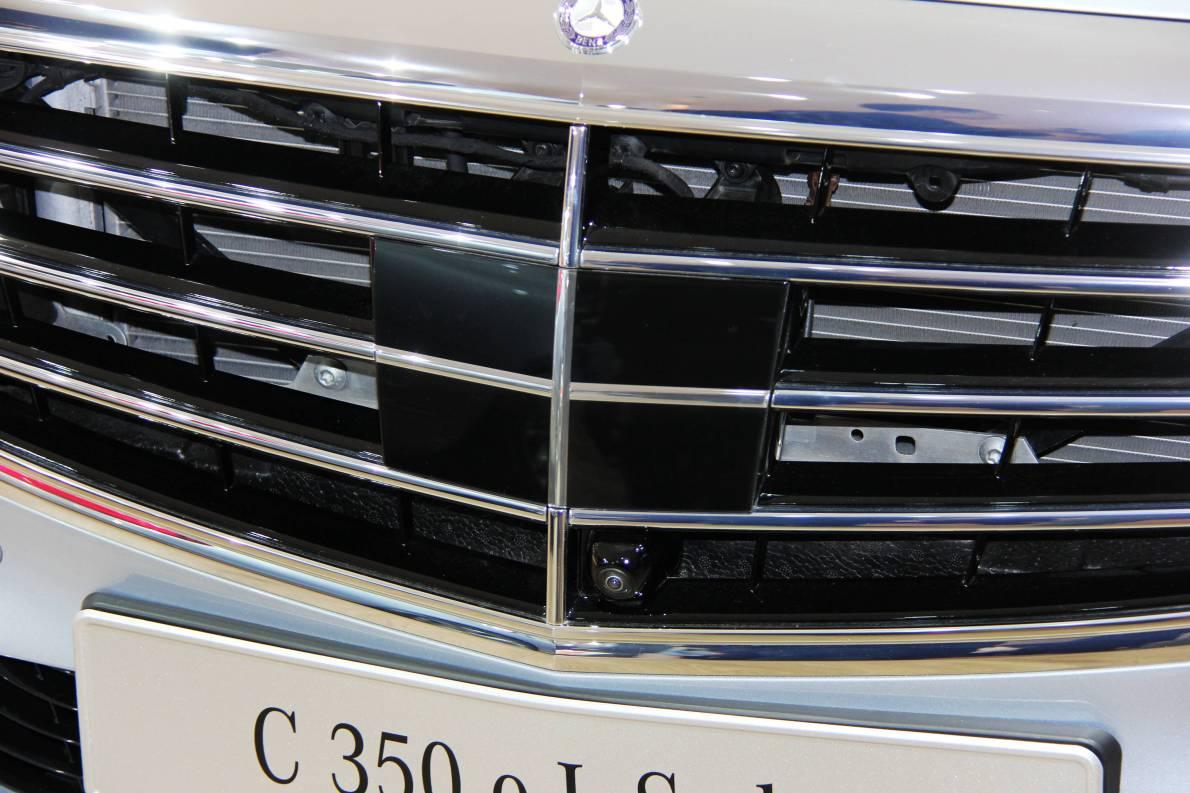 2015 上海车展 奔驰C350eL 实拍 细节