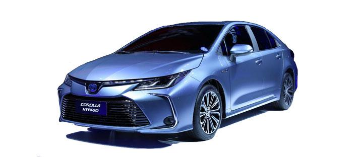 2019丰田卡罗拉双擎旗舰版 蓝色
