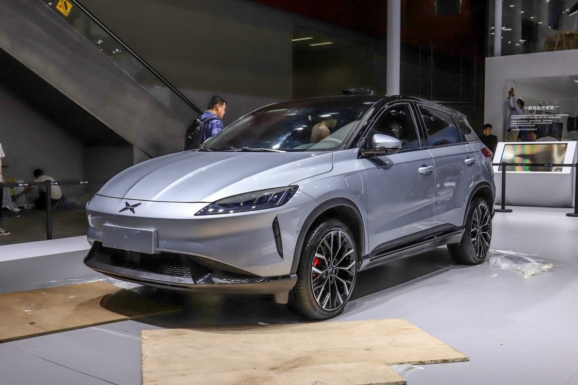 2018 小鹏汽车 G3 尊享版 银白色 车展 外观
