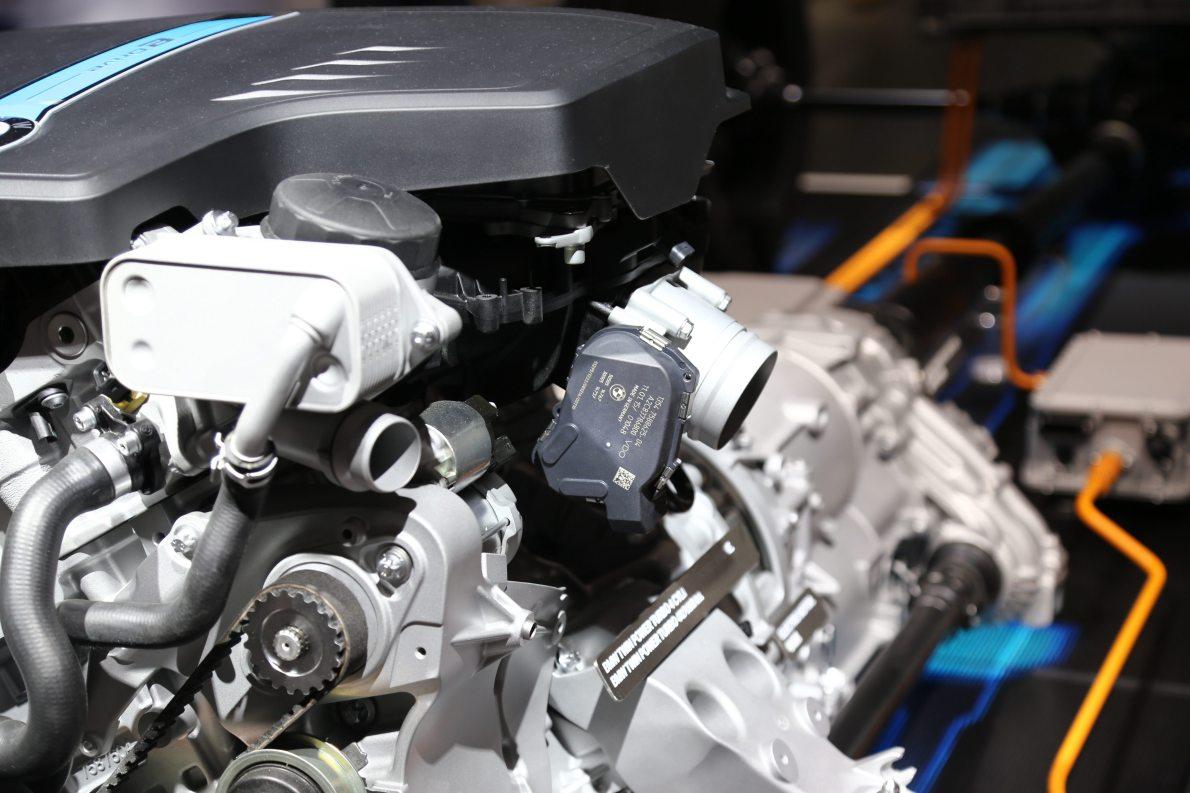 2015上海车展 实拍 宝马X5混动 动力底盘
