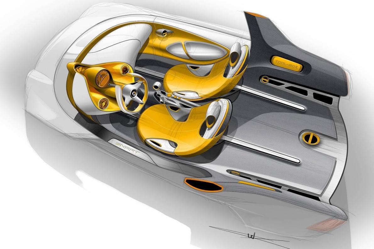 2012款 Smart for-us Concept 官图 座椅空间