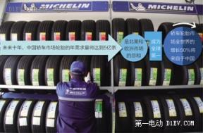 """全球轮胎业""""节能考"""" 米其林热身北京电动车F1"""