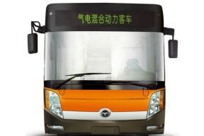 河南洛阳首次引进百辆气电混合动力公交车