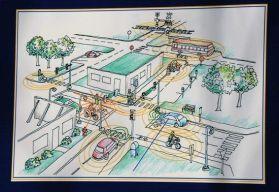 密歇根大学模拟城市交通环境 测试车联网