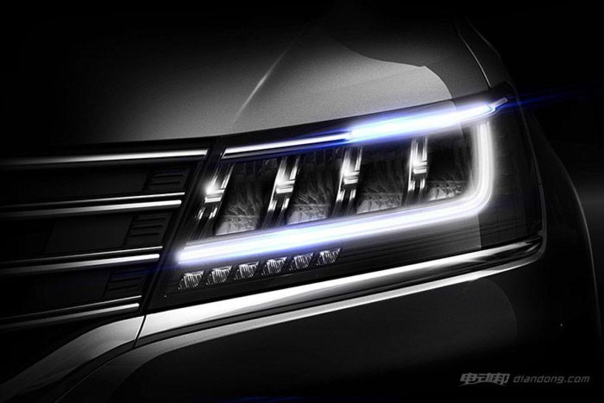荣威互联网SUV预告图 矩阵式全LED大灯抢眼
