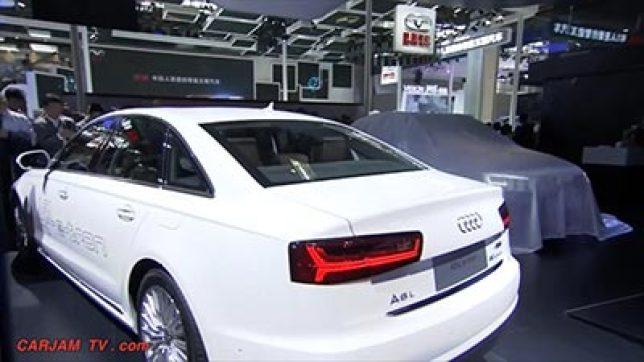 独家设计的奥迪A6 e tron 中国上市发布会