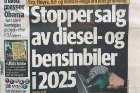 挪威政府提出法令:2025年后境内禁售燃油车