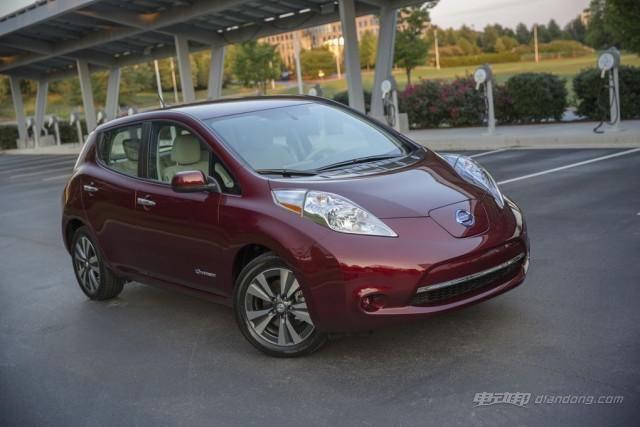 尼桑电动汽车2016年款Leaf一次充电可行驶172公里