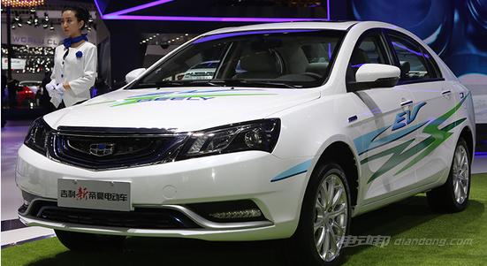 补贴后12万 帝豪EV纯电动汽车售22.88万起