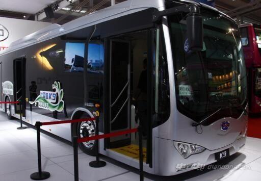 比亚迪 K9电动大巴和e6电动车是绝对明星产品