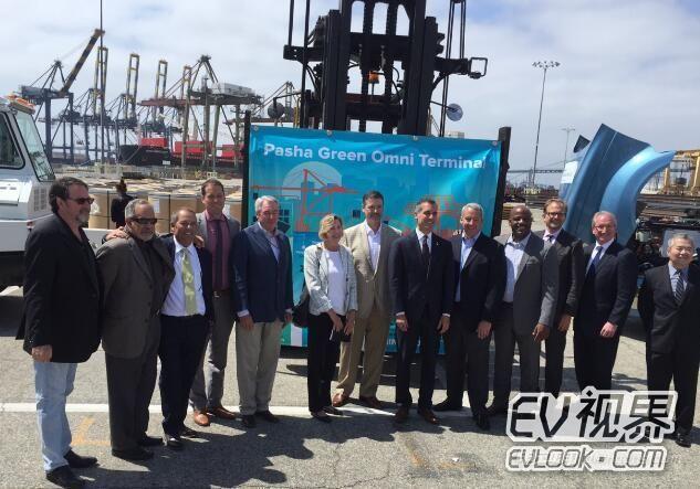 洛杉矶联手比亚迪电动汽车 打造全球首个绿色港区