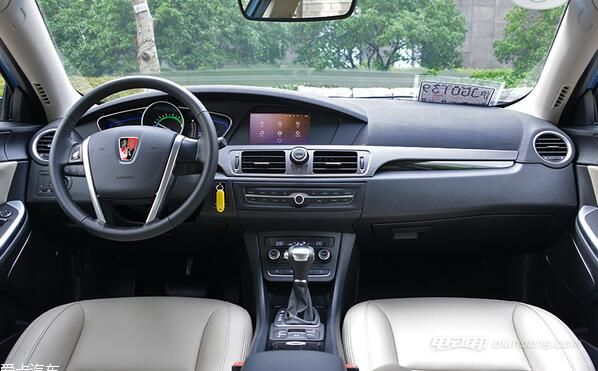 荣威550 plug-in电动汽车:内饰方面