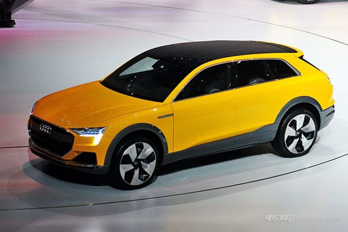 奥迪h-tron quattro燃料电池概念车国内首发