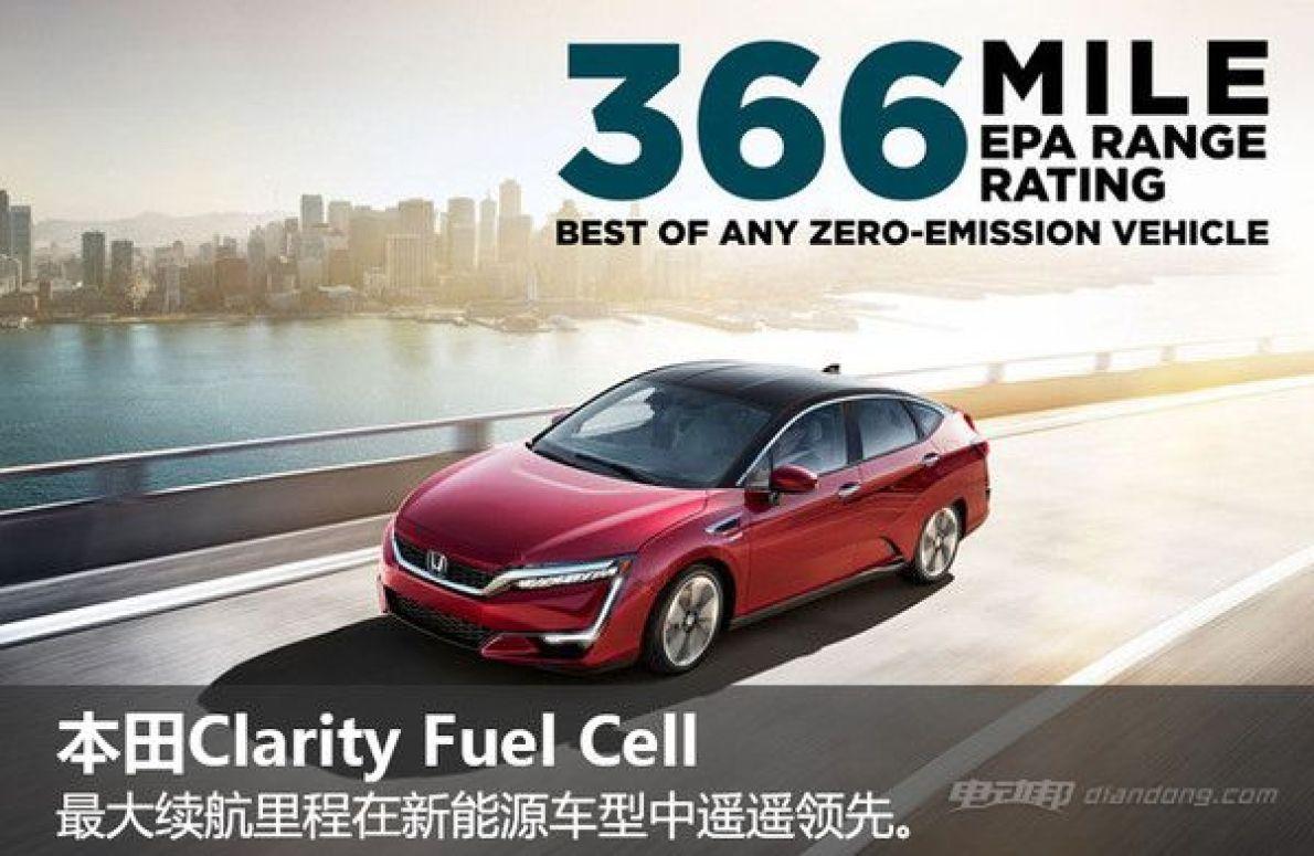 本田燃料电池车型即将上市 续航可达590公里