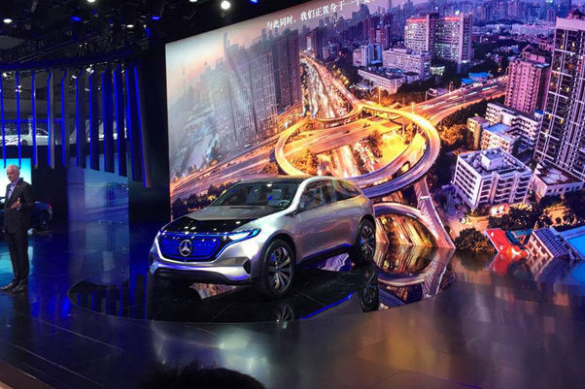 奔驰EQ概念车在广州车展国内首次亮相