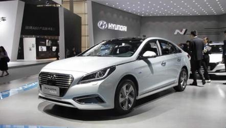 索纳塔九插电式混动汽车在广州车展亮相