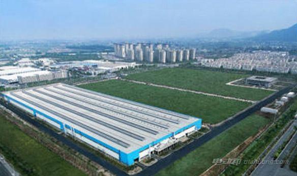 蔚来汽车高性能电机南京生产基地鸟瞰图