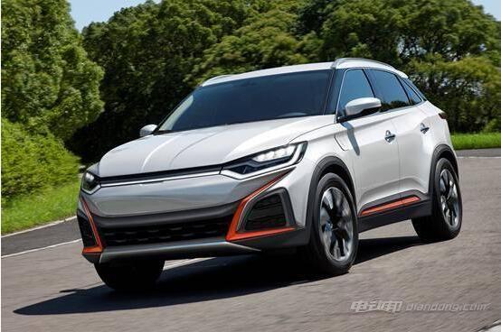 威马汽车首款纯电动SUV车型的假想图