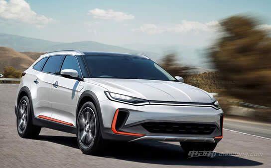 威马汽车首款纯电动CROSS跨界车的假想图