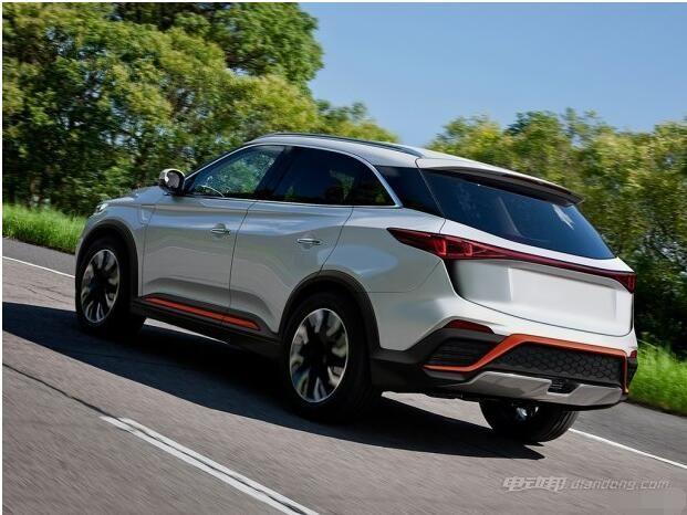 新能源品牌威马汽车车身侧面