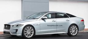 捷豹新一代XJ新能源汽车假想图采用全铝车身