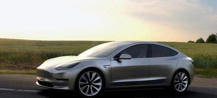 特斯拉Model 3将开始试生产 图片