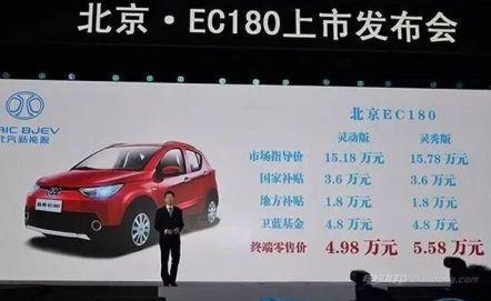 北汽新能源EC180价格及图片介绍
