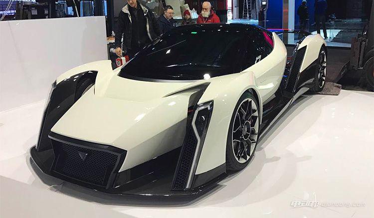 纯电超跑-Dendrobium概念车日内瓦车展实拍