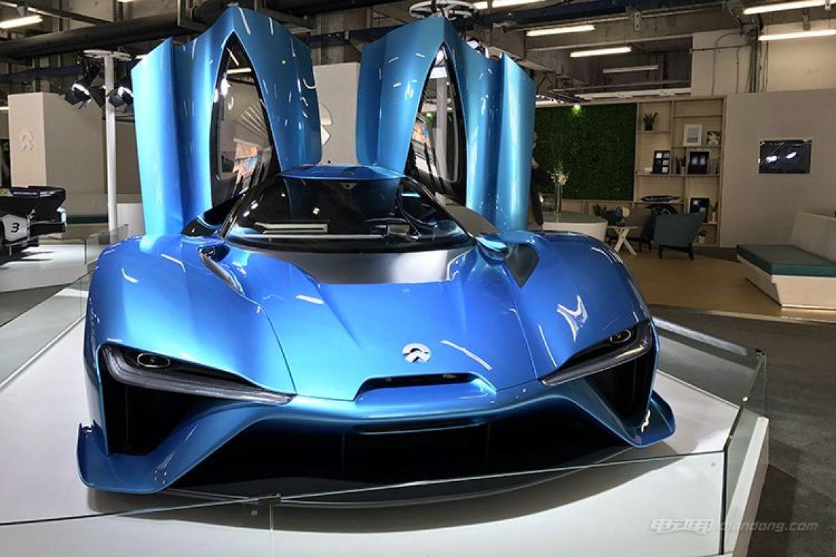 上海车展将亮相 蔚来ep9更多国内实车照片