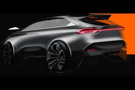 奇点首款量产车设计草图流出 或为对开门SUV