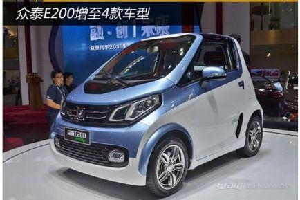 众泰E200电动汽车图片及介绍