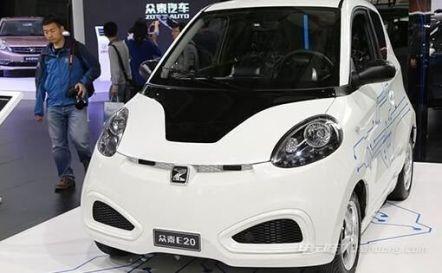 纯电动汽车众泰知豆E20