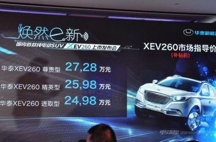 华泰XEV260车型介绍