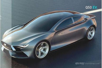 英菲尼迪全新电动车型Q50 EV渲染图曝光