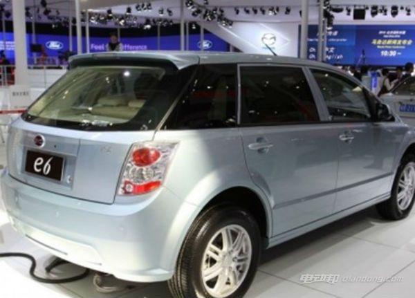 比亚迪e6纯电动汽车介绍:耗能