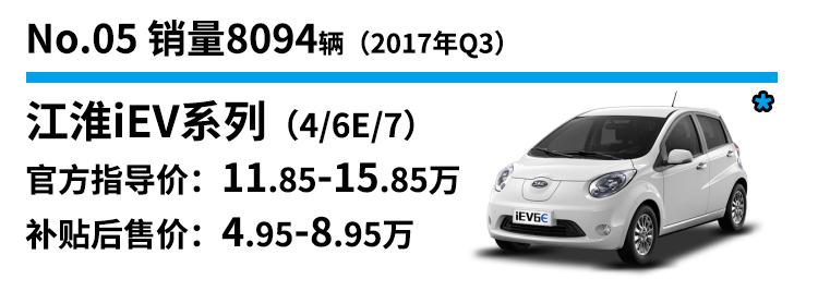 5.江淮iEV系列