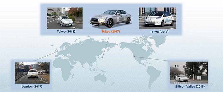 3.全球测试过的地方和车