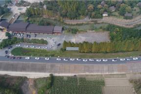 50余辆新能源车绿色巡游杭州,上百位先锋车主为环保疯狂打CALL!