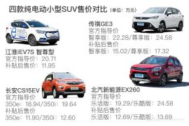 10-15万的个性选择 四款纯电小型SUV购买推荐